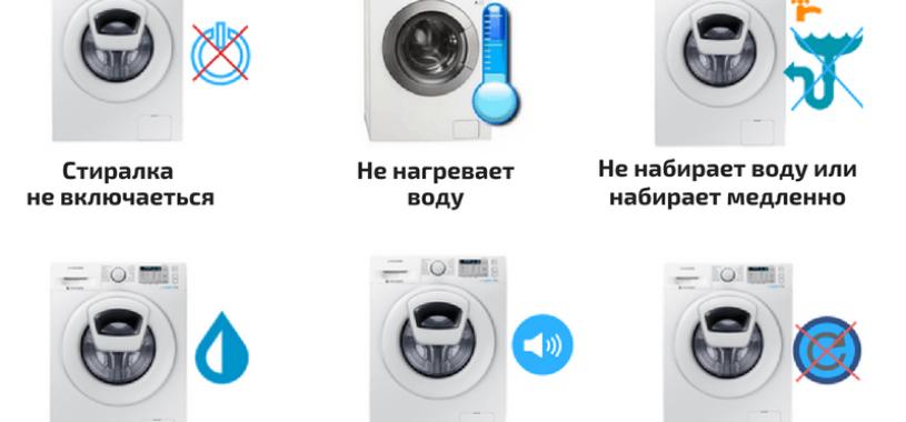 Стиральная машина не включается: виды поломок и методы ремонта